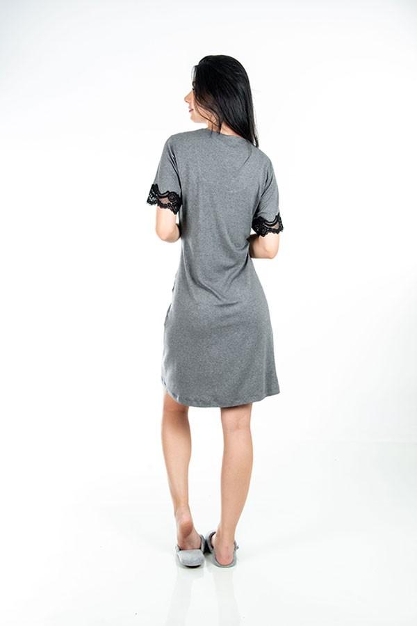 Camisola de renda preta