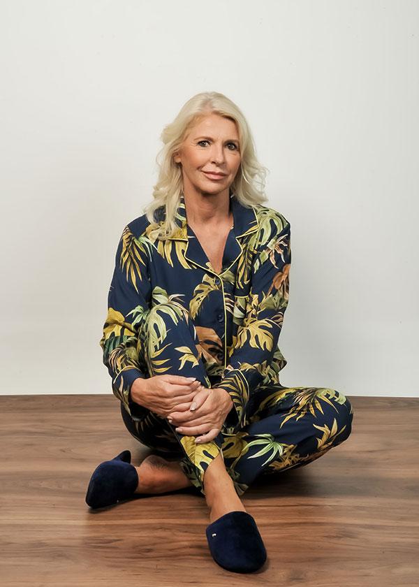 Pijama Americano Feminino Folhagem