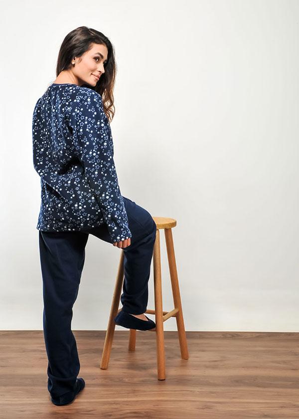 Pijama de Inverno Feminino Micro Soft Estrela