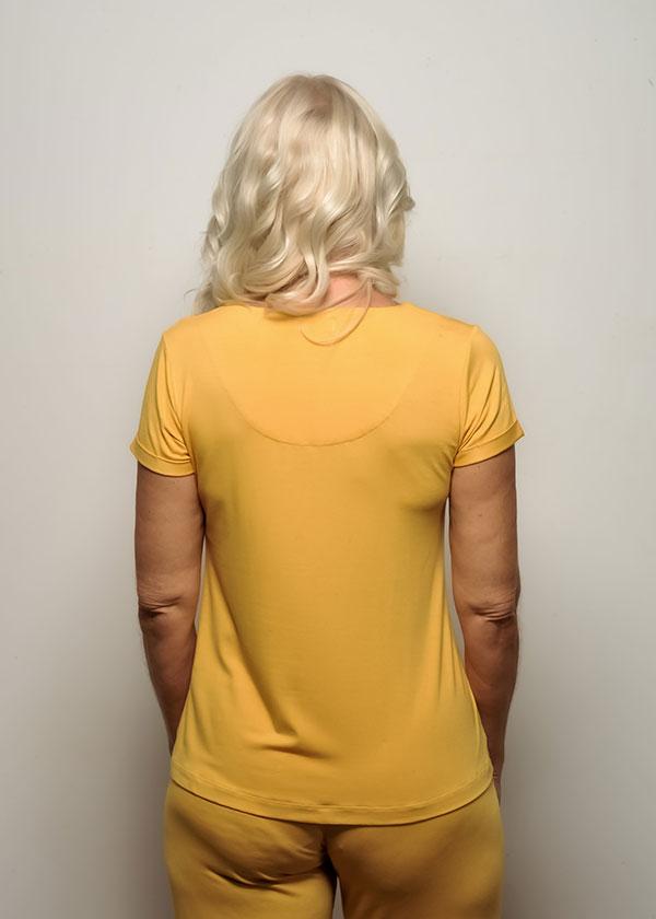 Pijama Feminino Amarelo Pantalona