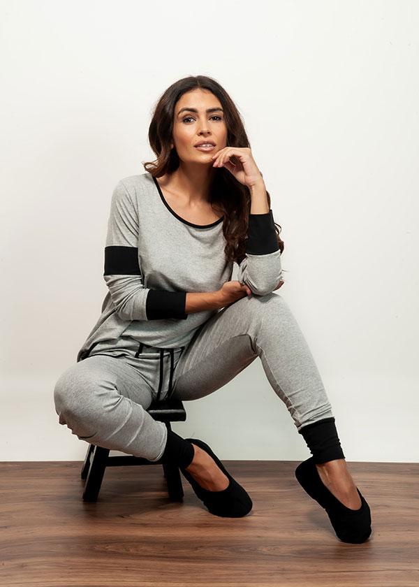 Pijama Feminino Calça legging com Bolso