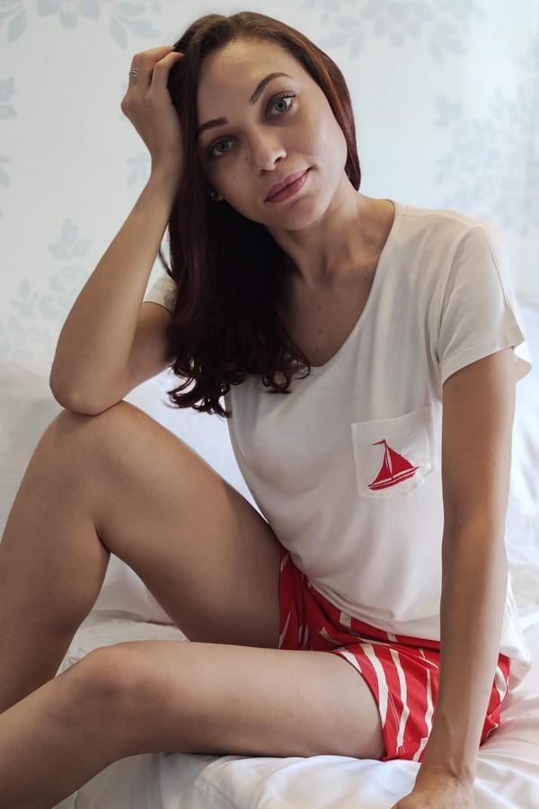 Pijama Feminino Curto Barco