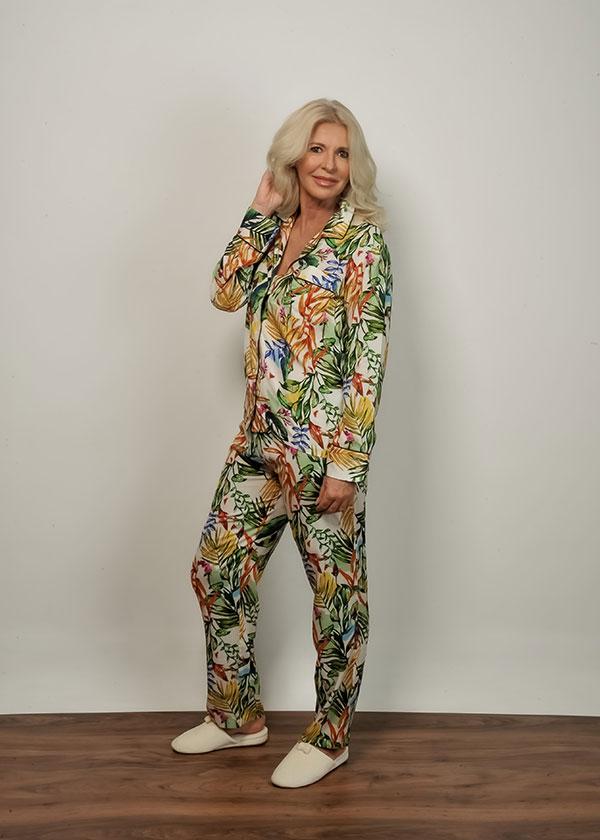 Pijama Feminino Loungewear Folhagem