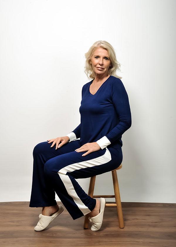 Pijama feminino moletinho em viscose