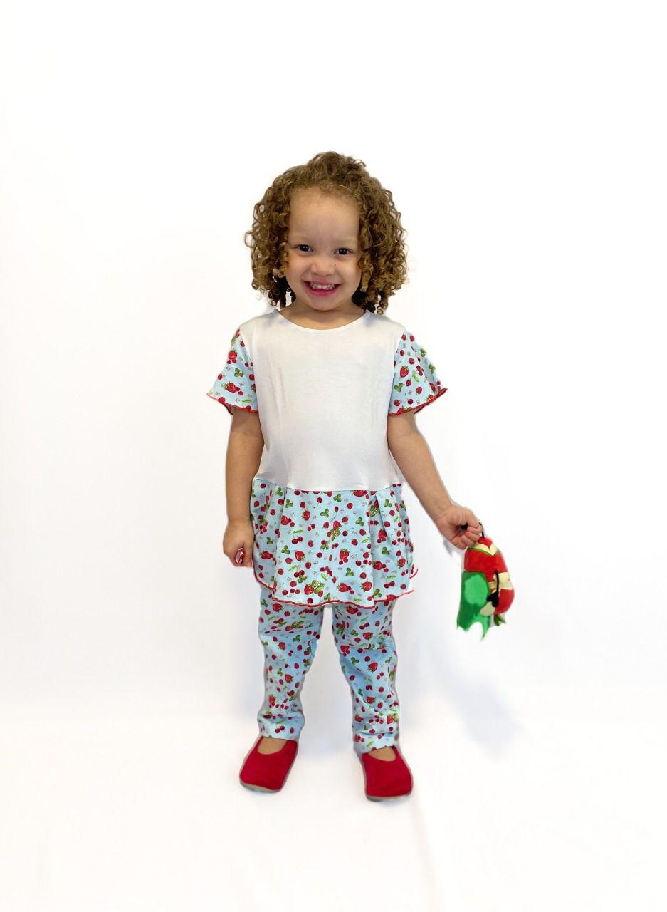 Pijama Infantil Feminino Cereja