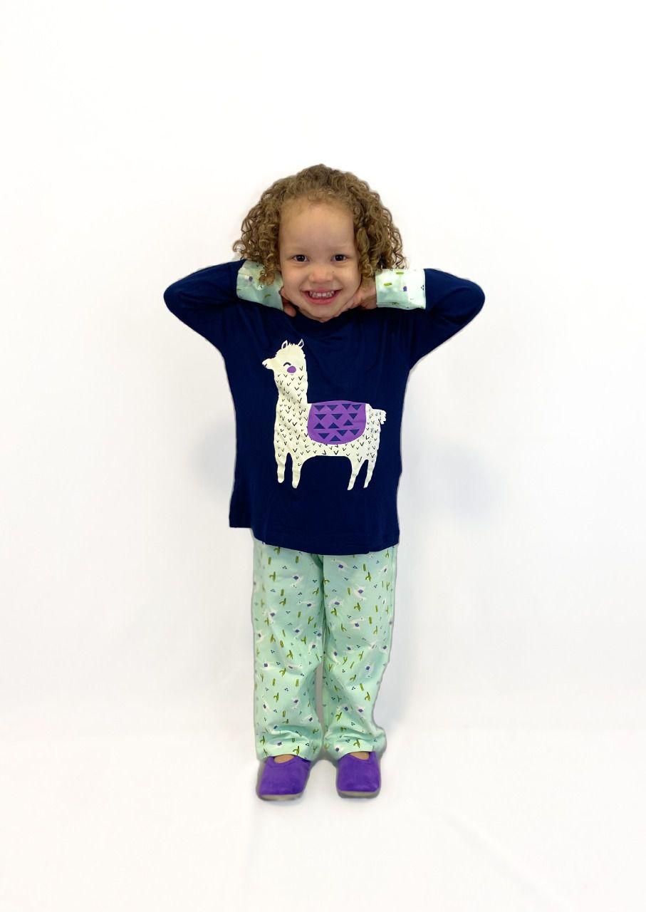 Pijama Infantil Feminino Lhama
