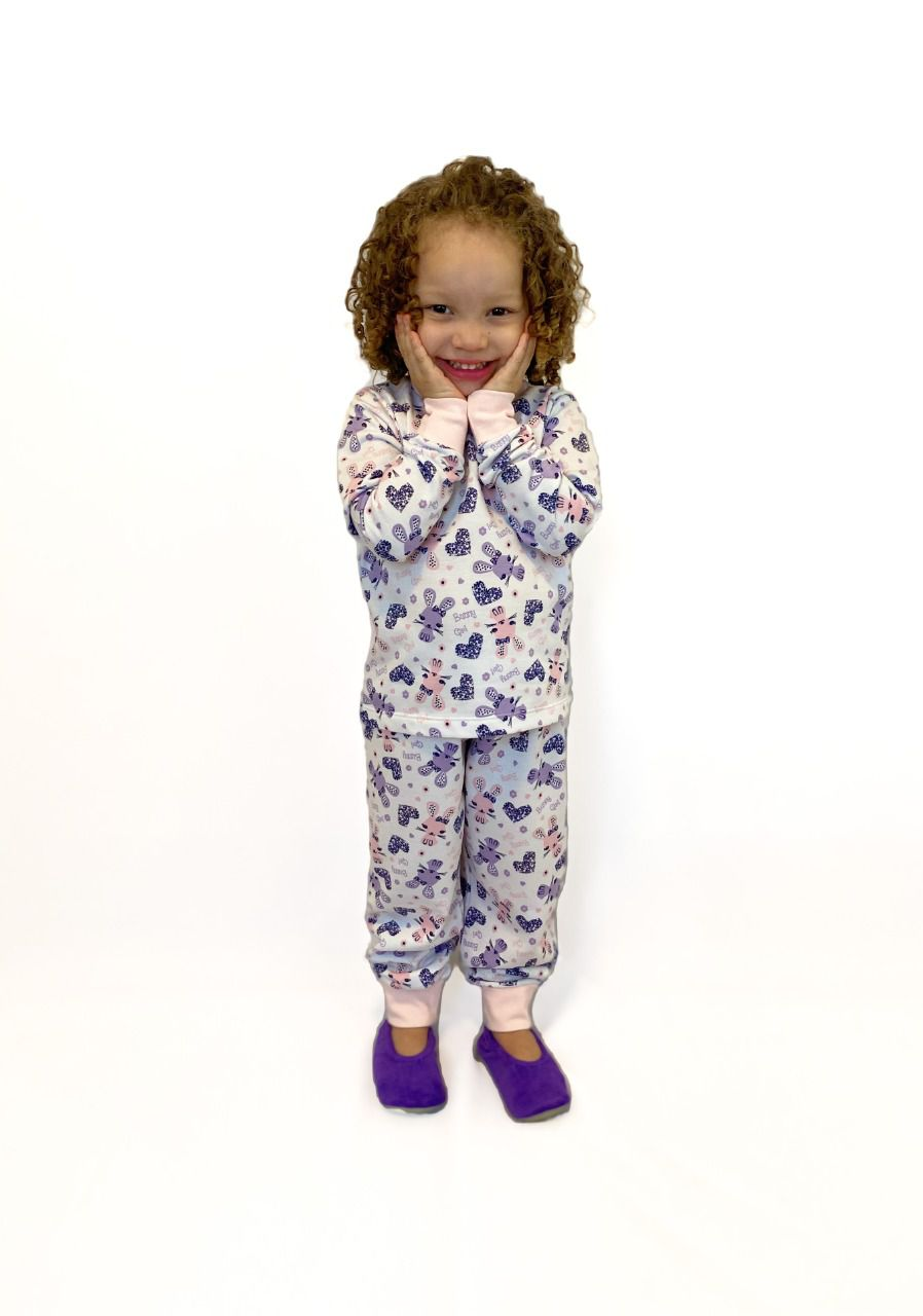 Pijama Infantil Feminino Moletinho Felpado Gatinha
