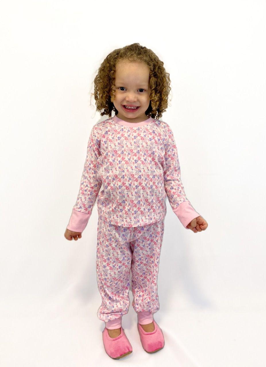 Pijama Infantil Feminino Números