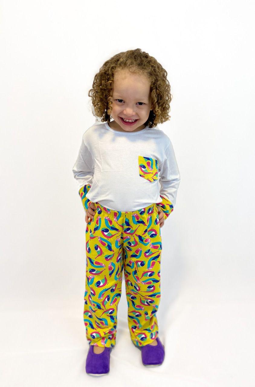 Pijama Infantil Feminino Passarinho