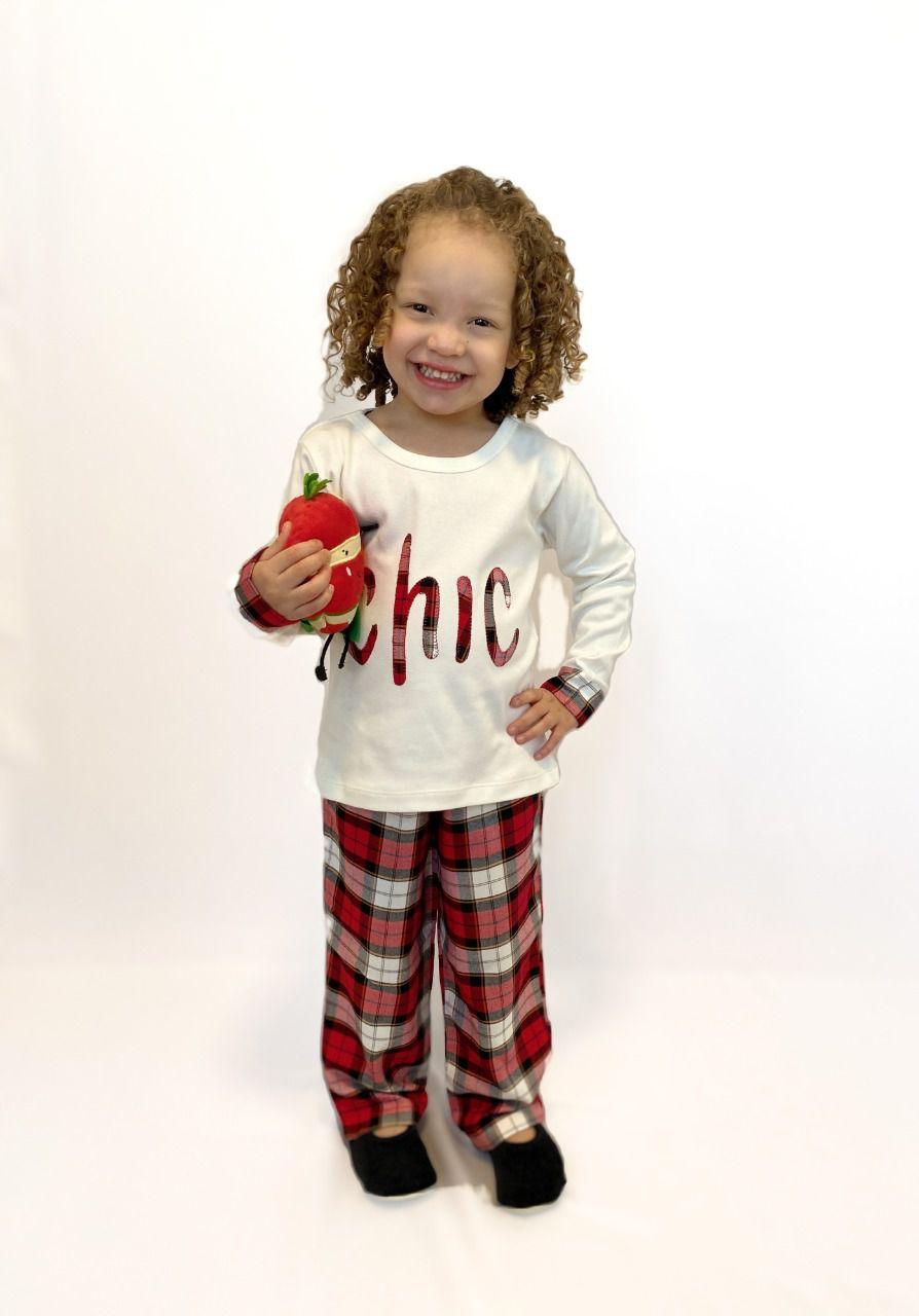 Pijama Infantil Feminino Xadrez CHIC