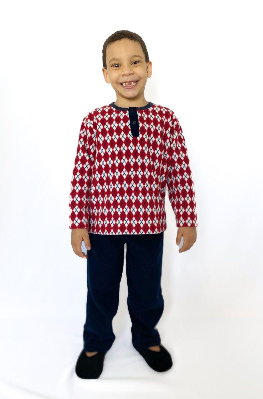 Pijama Infantil Masculino Pied de Poule