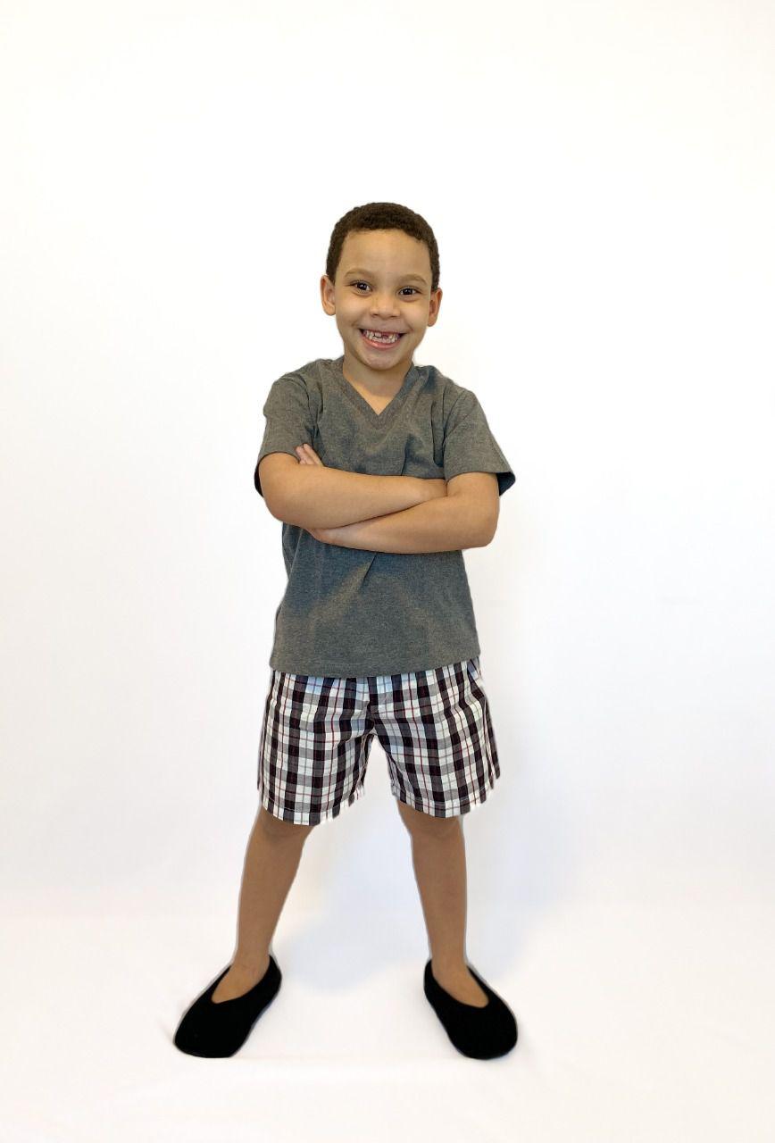Pijama Infantil Masculino Preto Xadrez