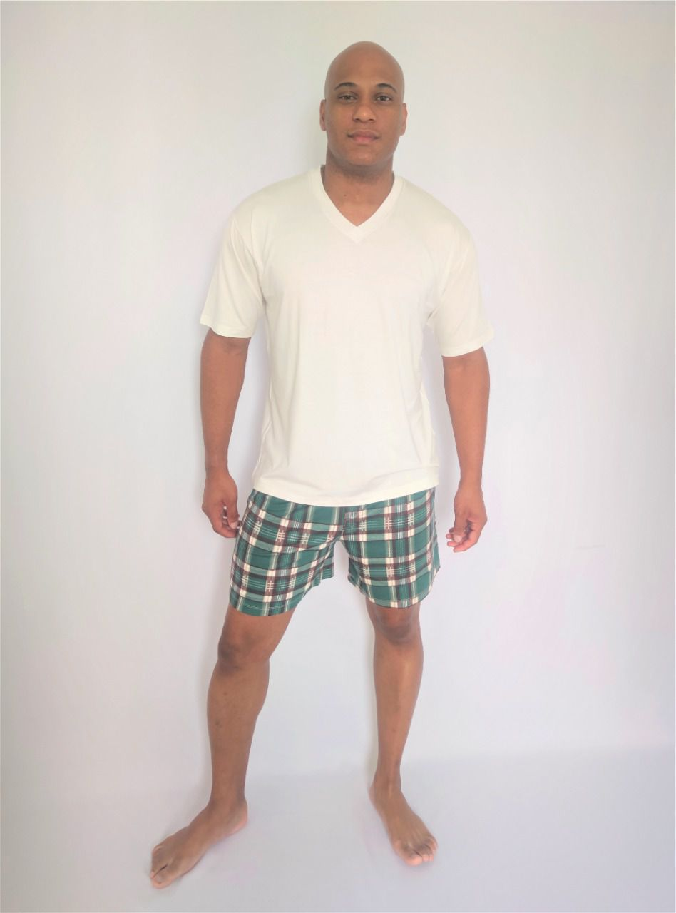 Pijama Masculino Short em Viscolycra