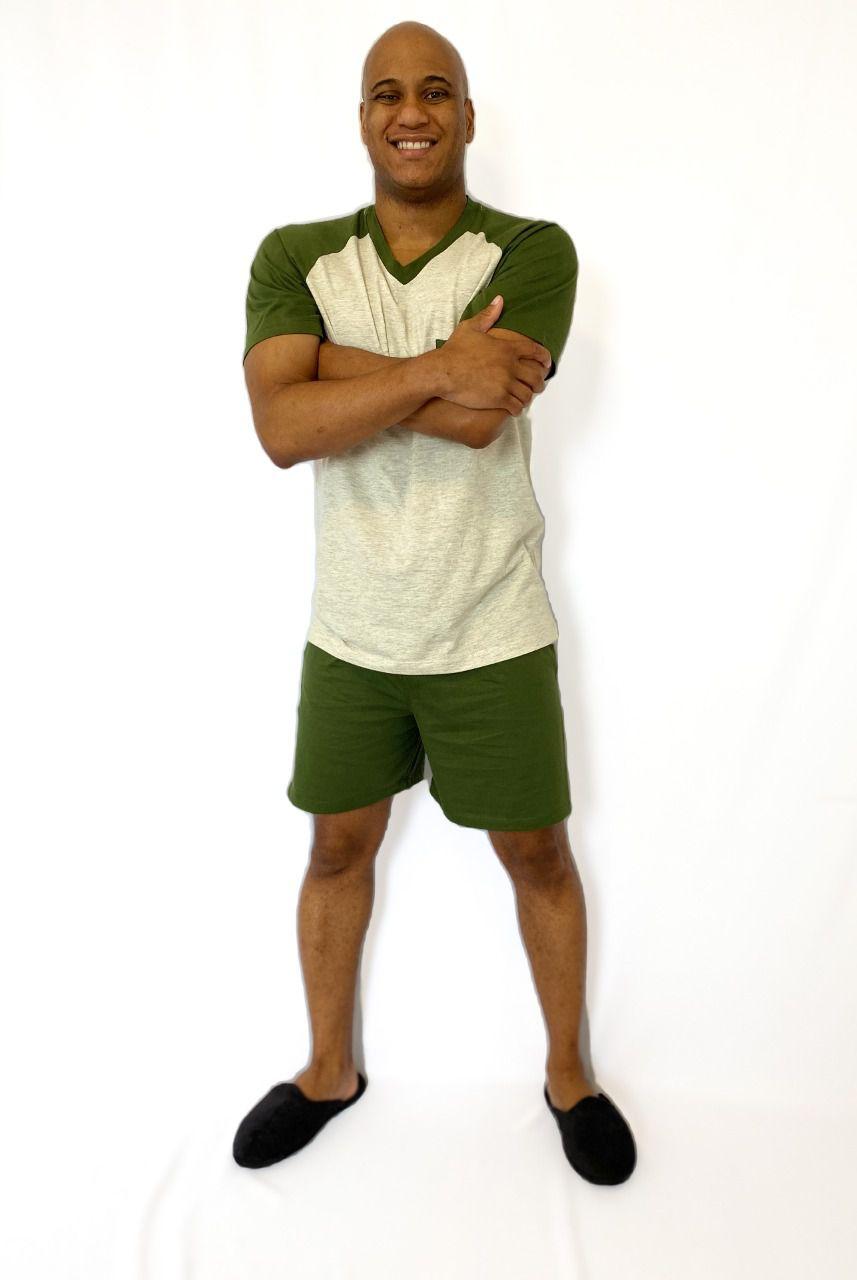 Pijama Masculino Curto de Meia Malha