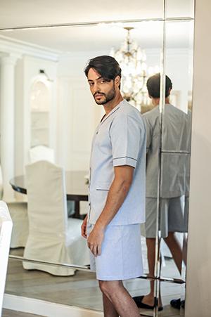 Pijama Masculino Curto em Tricoline