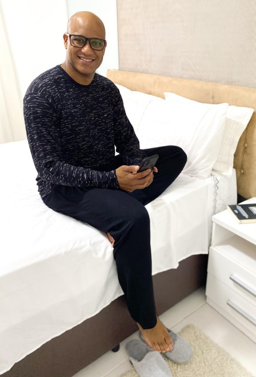 Pijama masculino longo de viscolycra