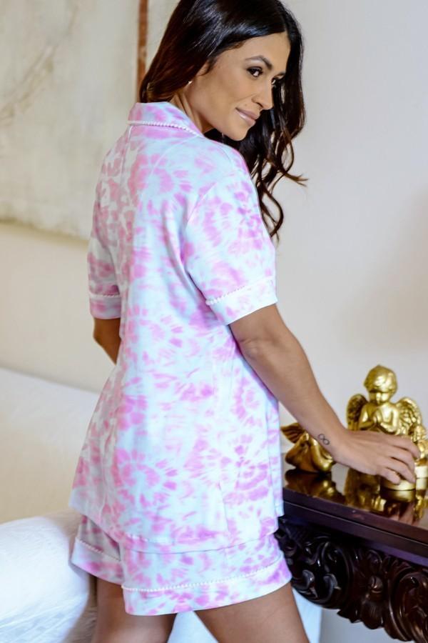Pijama Tie Dye Feminino Aberto