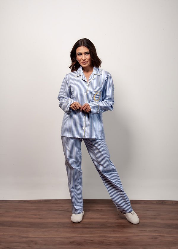 Pijama tipo americano Listrado