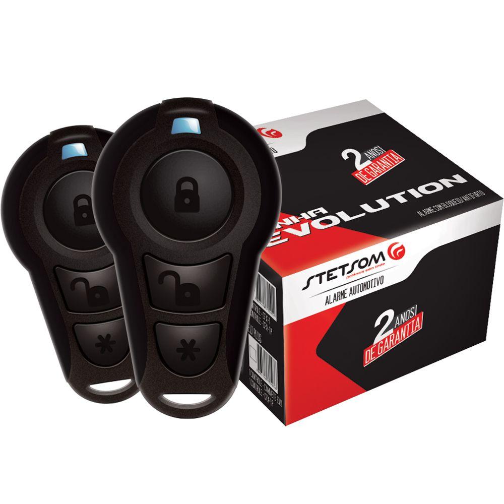 Alarme Automotivo EVX Top 2 Controles Bloqueador Veicular Antifurto Stetsom