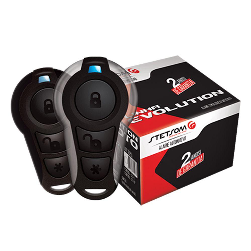Alarme Moto Stetsom Evolution Triplo I com Bloqueio 2 Controles Presença e Convencional