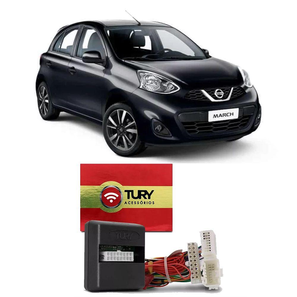 Alarme Tury Nissan March e Versa 2011 em diante Dedicado Keyless COMFORT 1.1 F