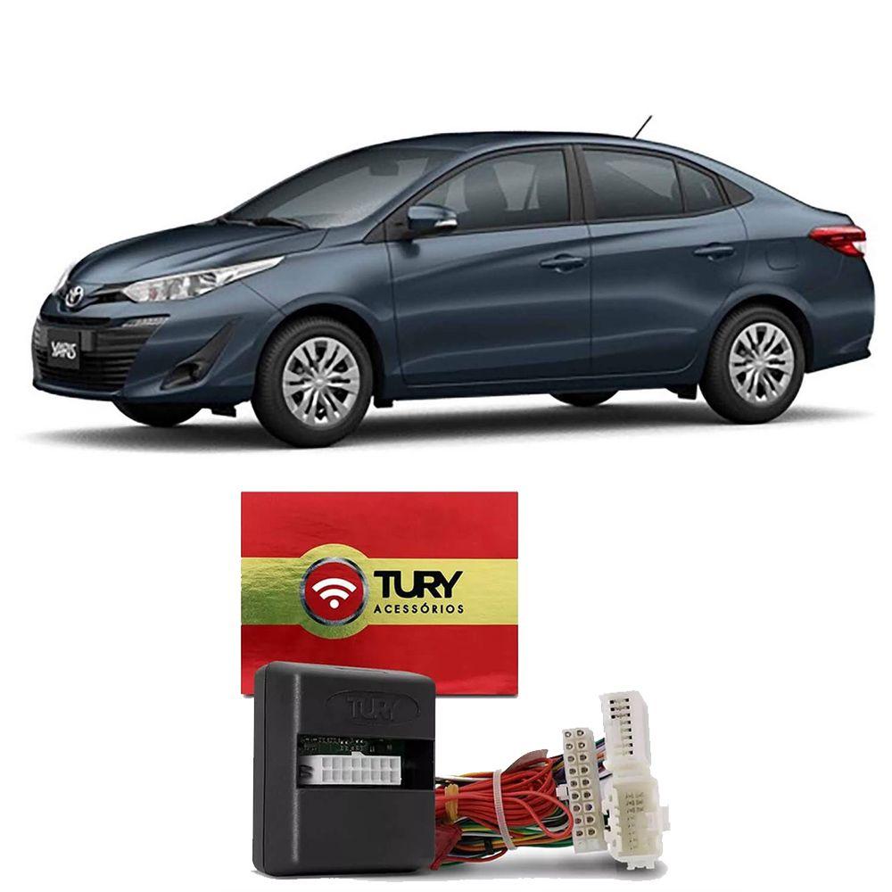 Alarme Tury Toyota Yaris 2018 em diante Dedicado Keyless COMFORT 1.3 AH