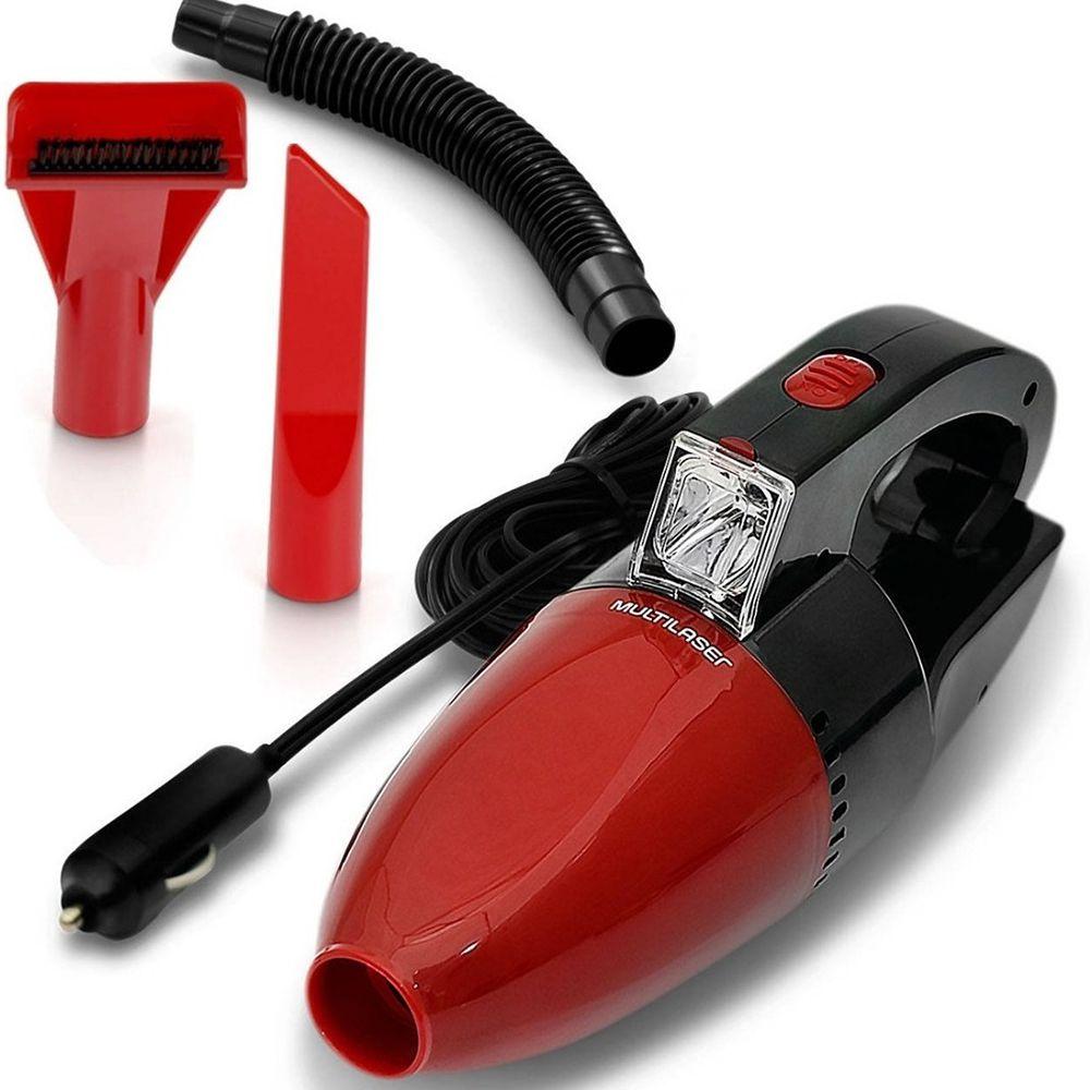 Aspirador de Pó Automotivo 12V Multilaser Vermelho - AU607