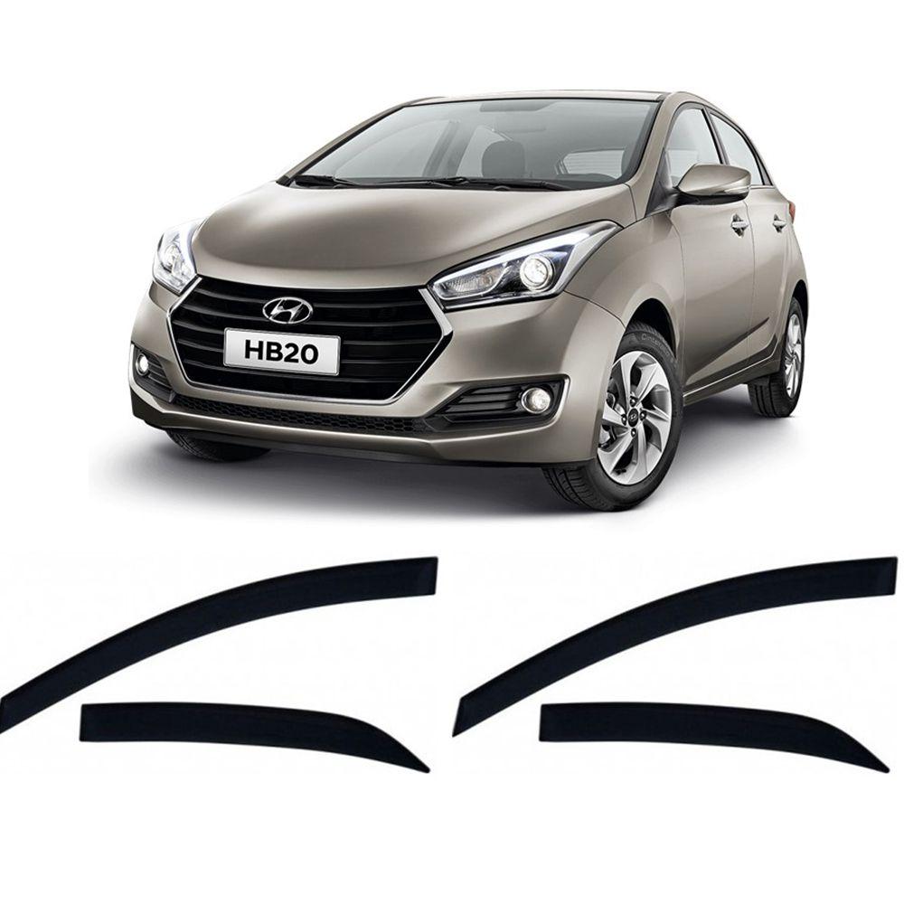 Calha de Chuva TG Poli Hyundai HB20 Hatch 2012 até 2019 4P