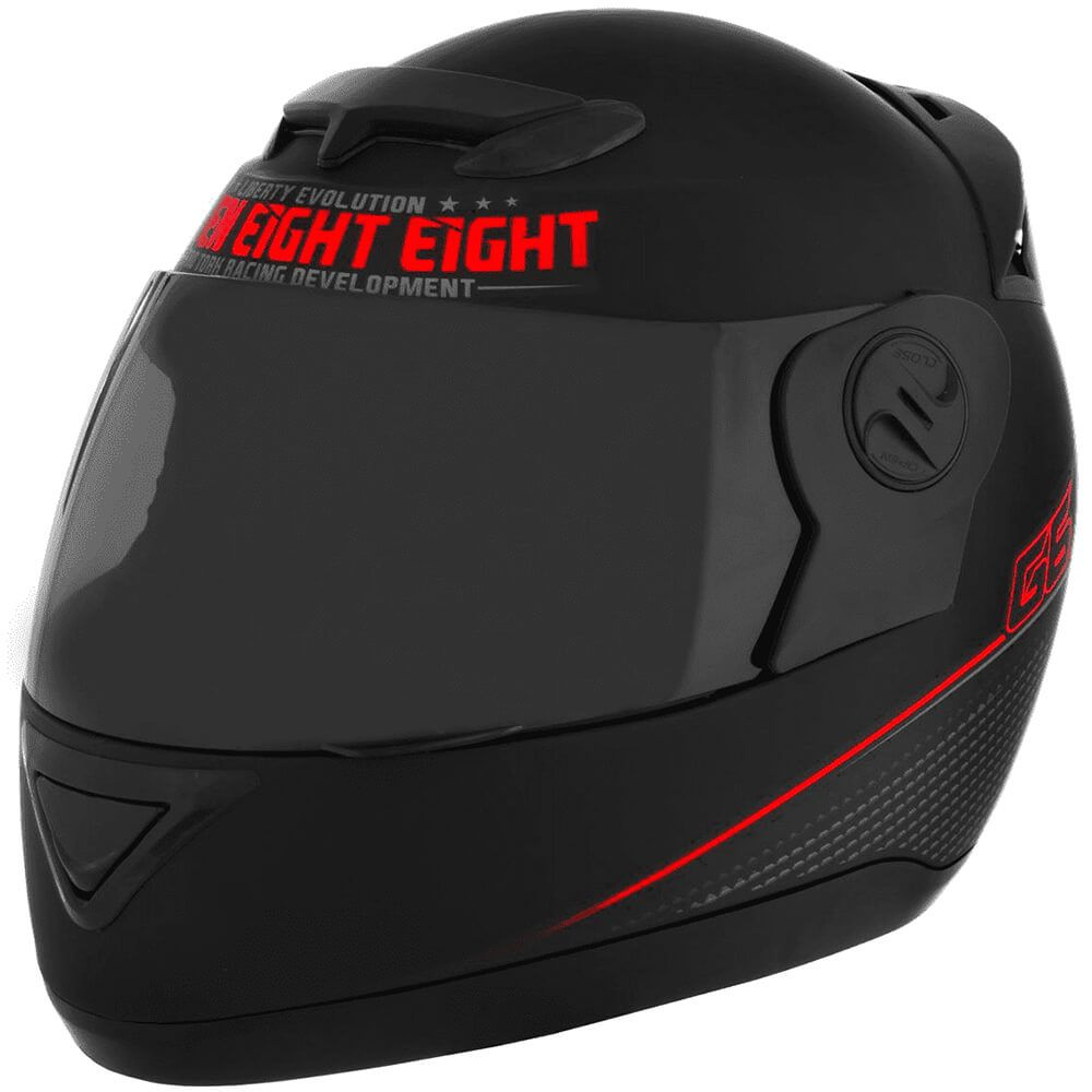 Capacete Evolution G6 788 Pro Neon Vermelho Tamanho 60 Pro Tork - CAP-559VM