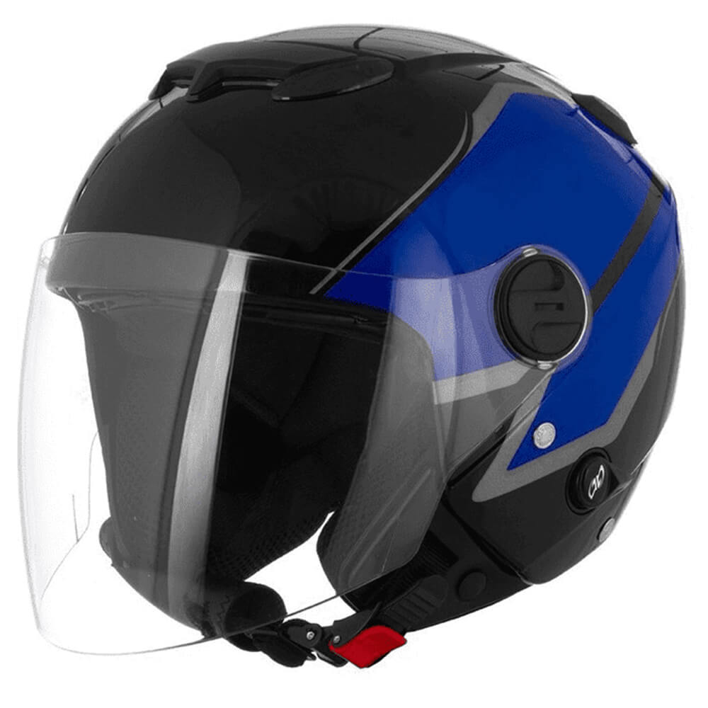 Capacete New Atomic Superbike Preto Azul Prata Tamanho 58 SB 2 Pro Tork - CAP-449PTAZPTA