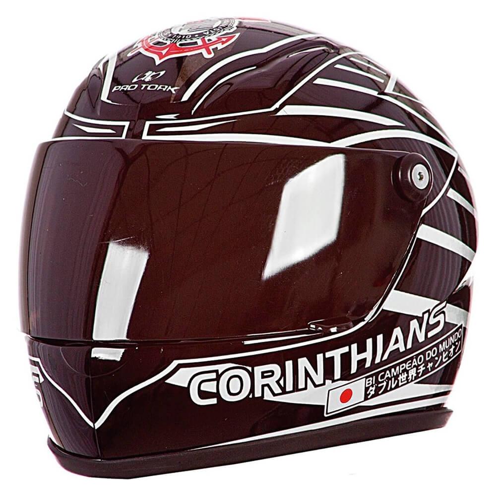 Capacete Pro Tork Mini Decorativo Corinthians - CAP-246