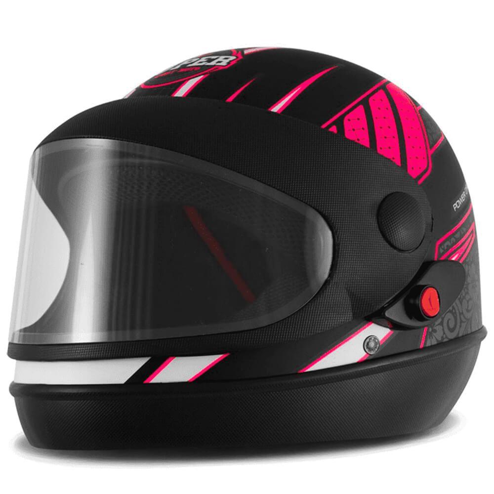 Capacete Super Sport Moto Power Girl Fundo Preto Fosco Tamanho 58 Pro Tork - CAP-650PT