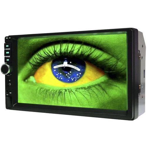 Central Multimídia First Option 7800E Bluetooth/Mirror Link/MP4/MP3/USB/SD/Radio/Aux/Android