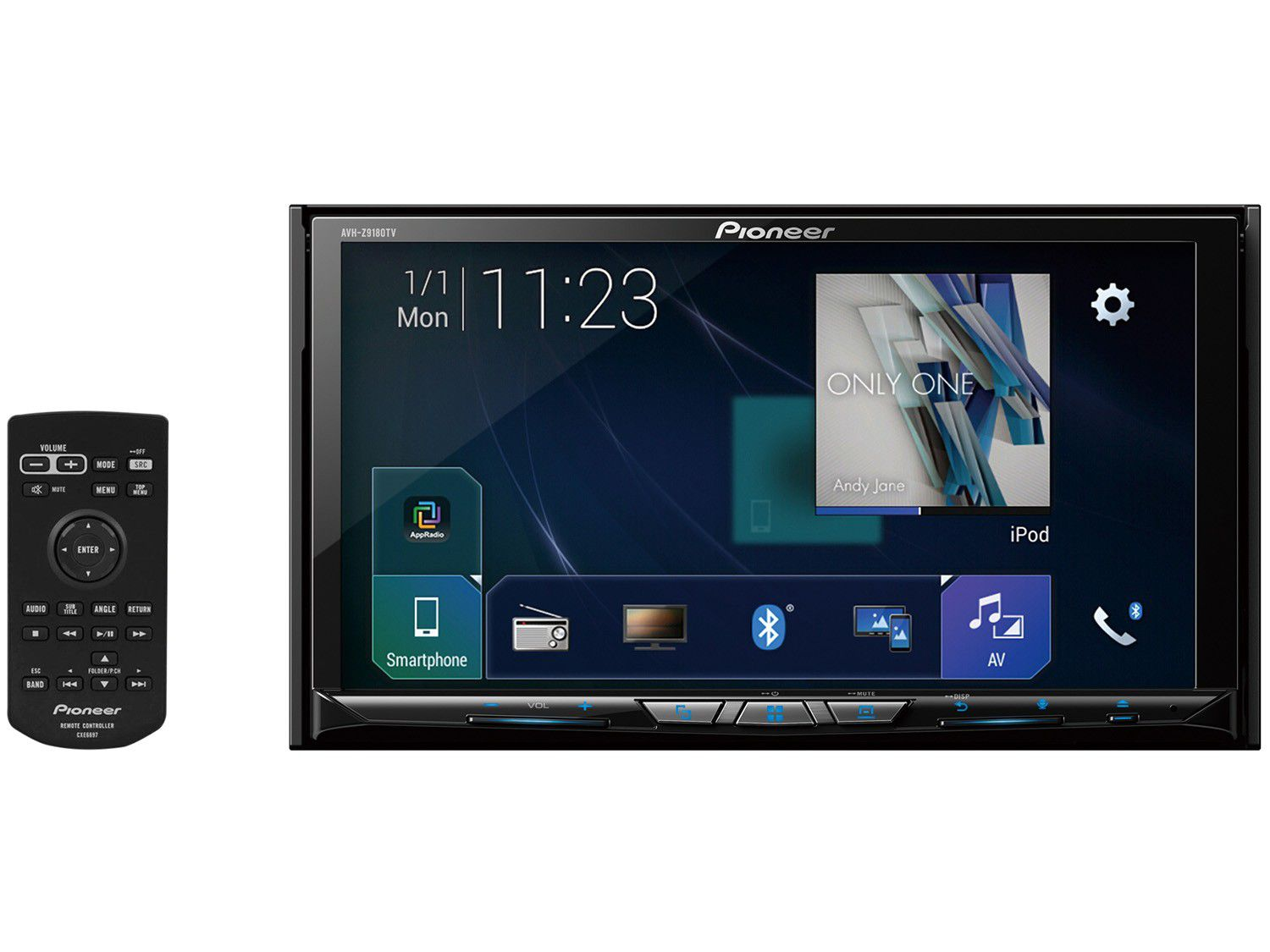 Central Multimidia Pioneer AVH-Z9180TV 2DIN 7 Polegadas/Bluetooth/USB/Android Auto/Mix/TV