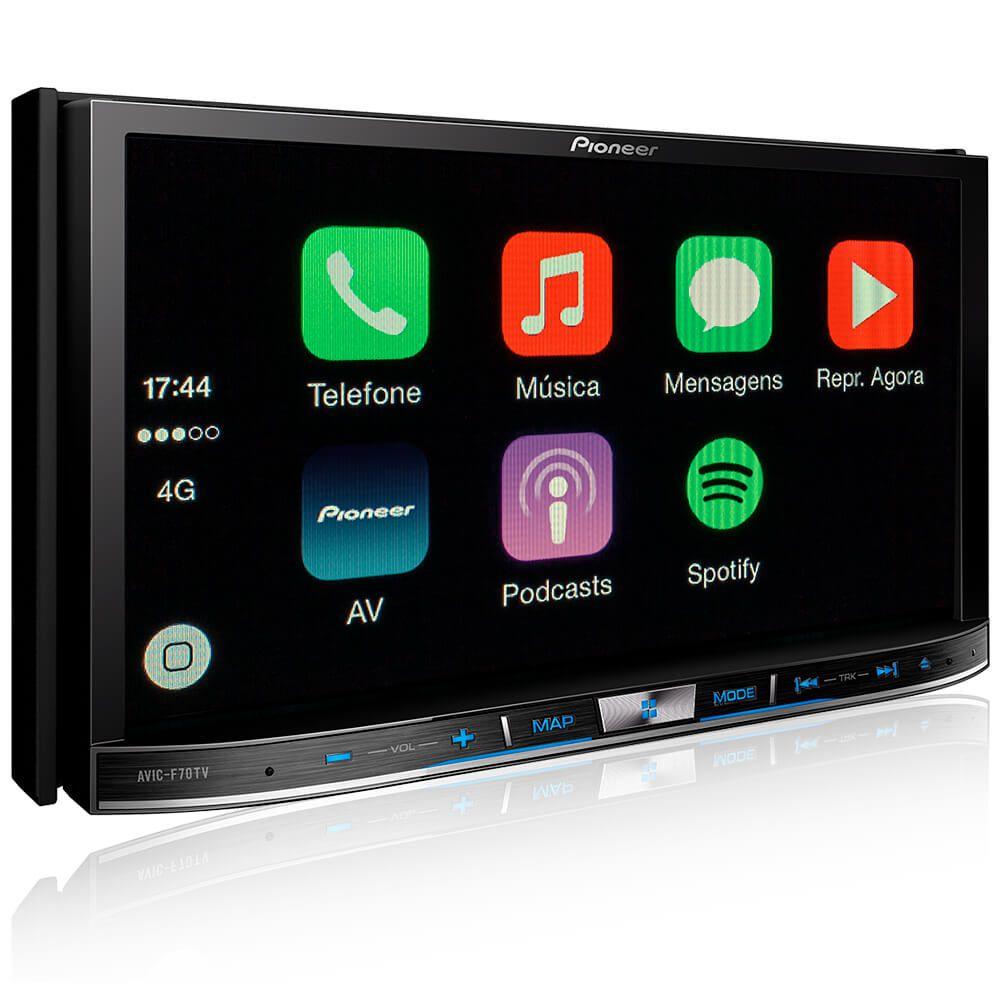 Central Multimidia Pioneer AVIC-F70TV 2DIN 7 Polegadas GPS BT USB Android Mixtrax TV