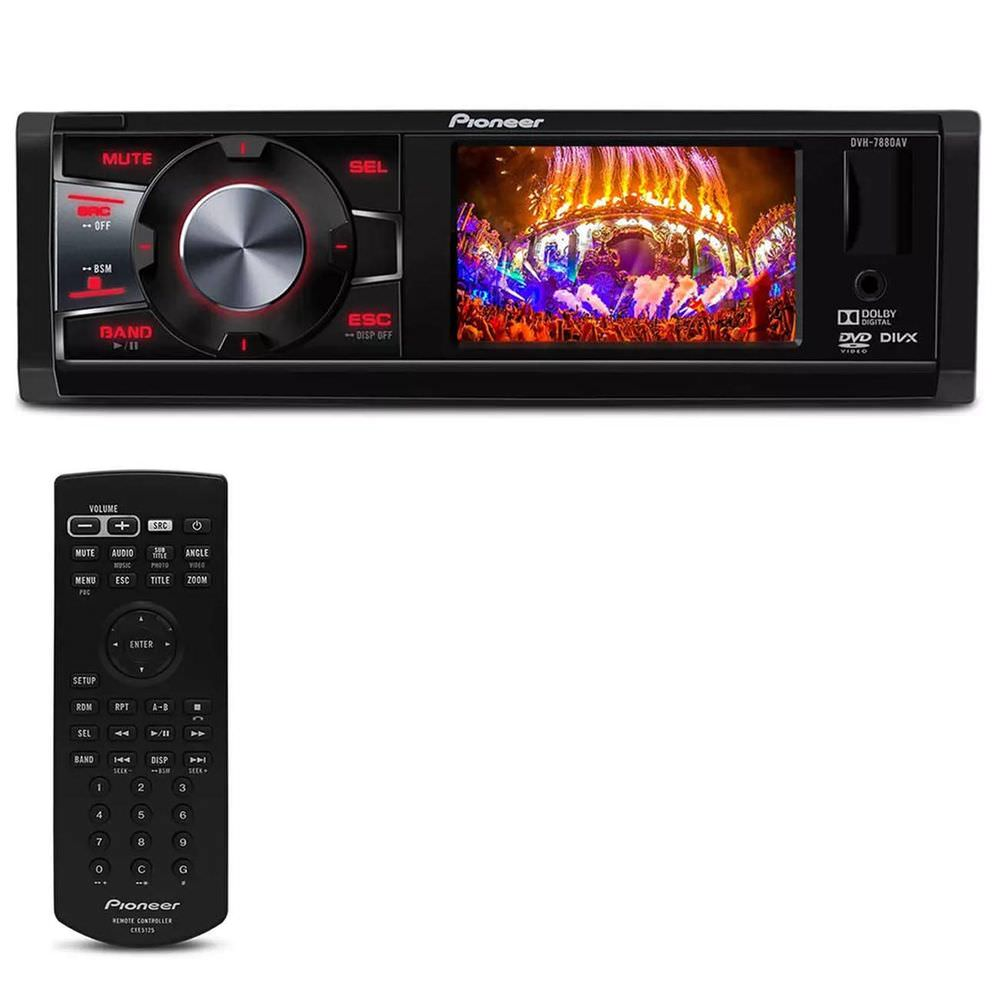 DVD Player Pioneer DVH-7880AV 1DIN 3 Polegadas MP3/USB