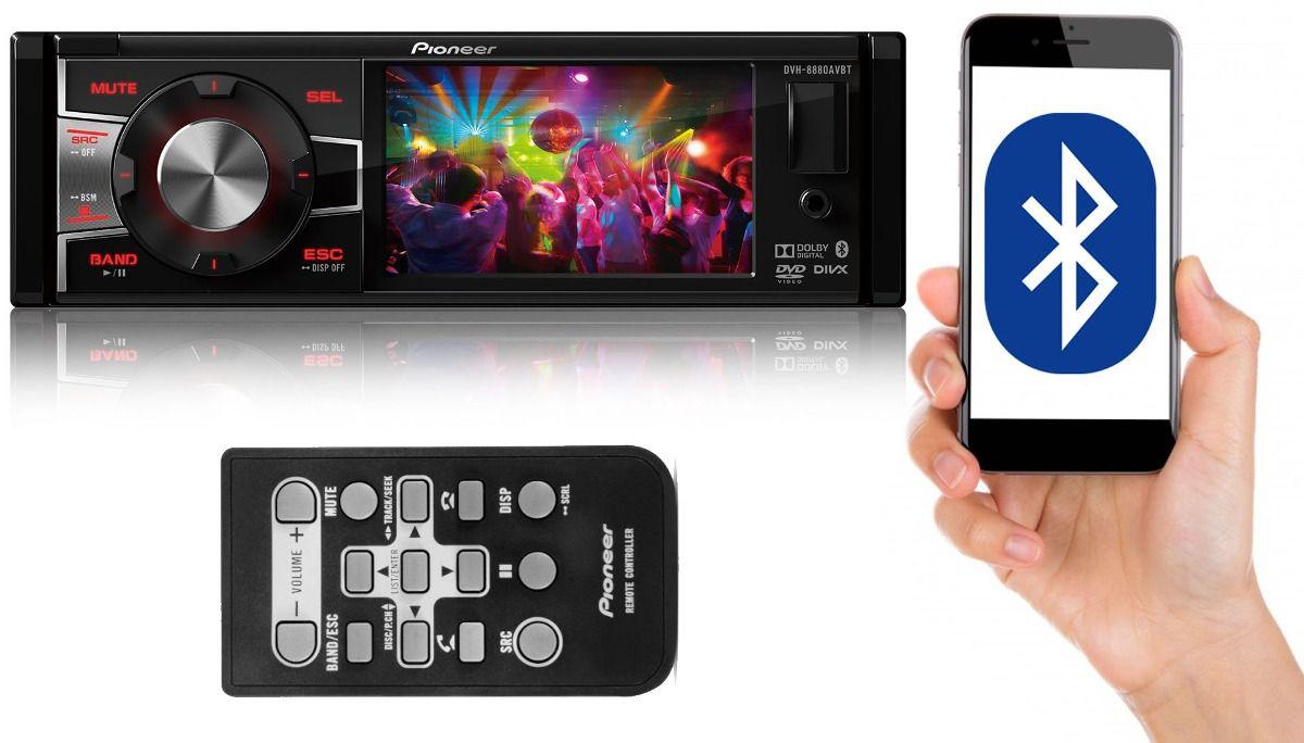 DVD Player Pioneer DVH-8880AVBT 1DIN 3.5 polegadas MP3/USB/Bluetooth