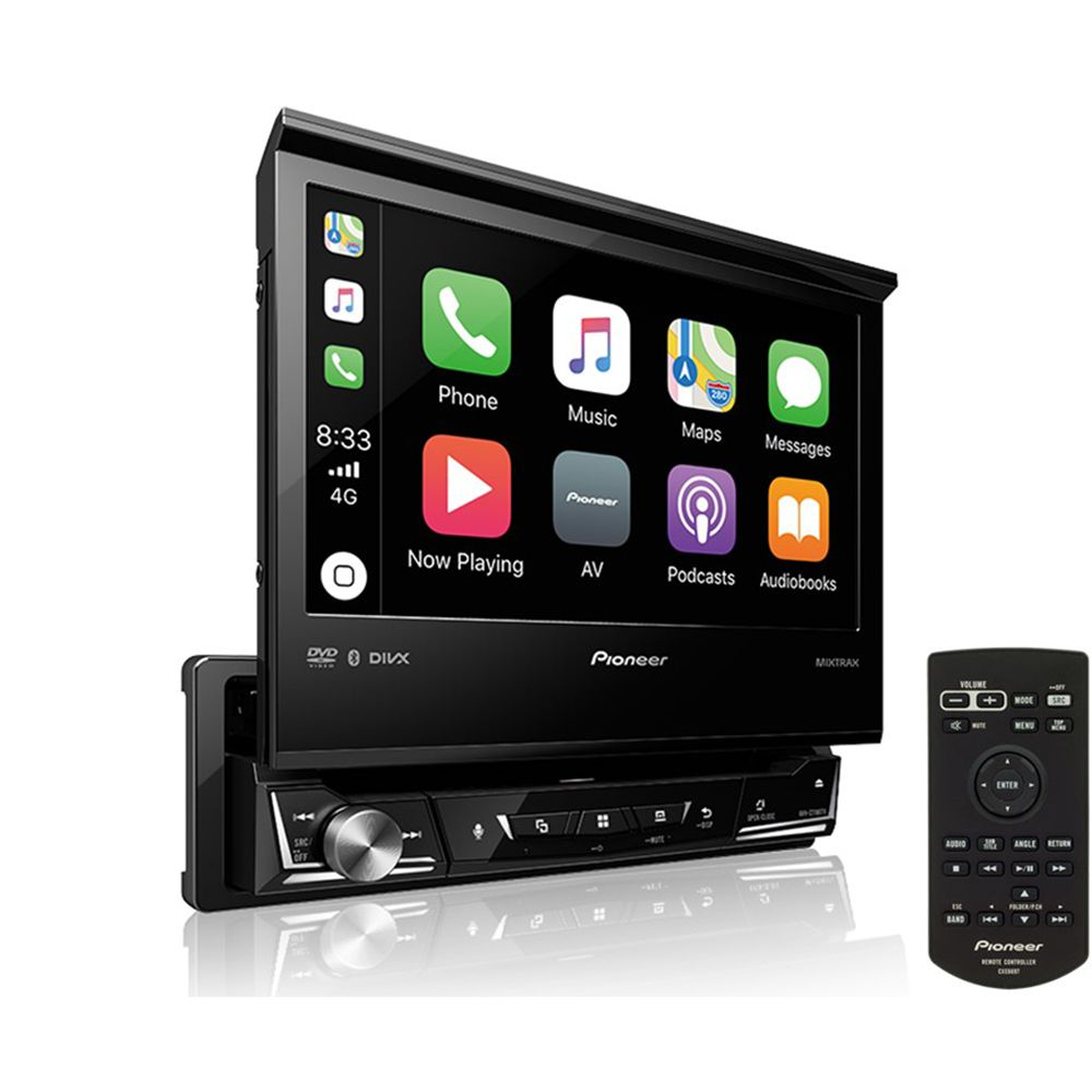 Dvd Player Retrátil Pioneer AVH-Z7180TV 7 pol TV USB BT Mixtrax DVD Android Iphone
