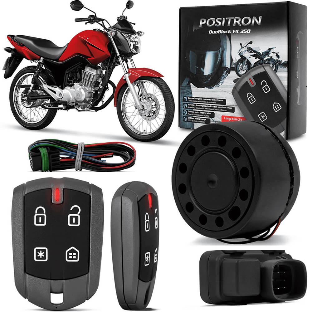 Kit Alarme para Motos Universal Positron Duoblock Fx G8 350 Com Presença