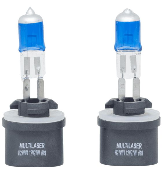 Par Lâmpada Super Branca H27W2 880 5000k 12v Multilaser - Au866