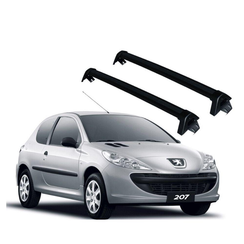 Rack Teto Peugeot 207 2009 até 2015 Alumínio Preto PG-805 Projecar
