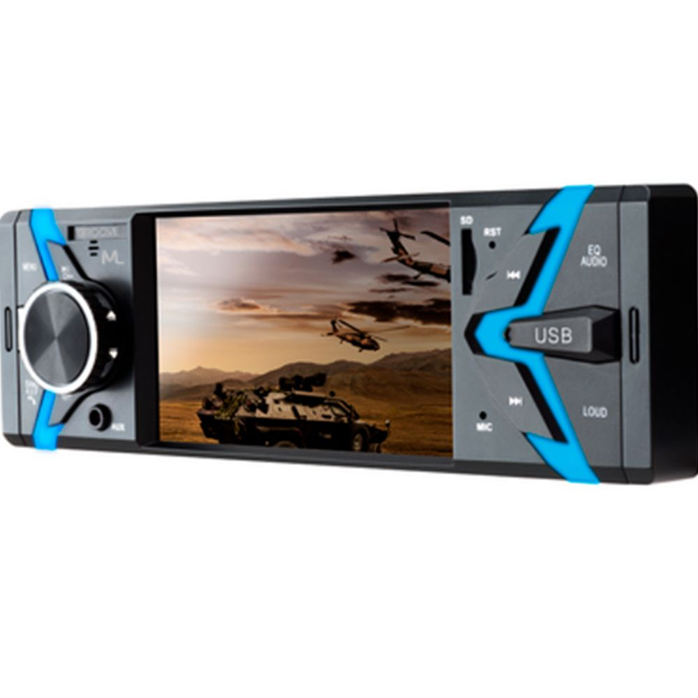 Som Automotivo Groove Tela 4.0 polegadas 1Din BT SD USB AUX Mp5 Rádio P3341
