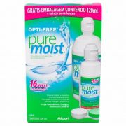Kit Opti-Free Pure Moist 300ml+120ml+Estojo para Lentes