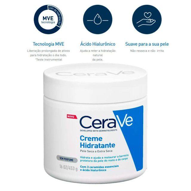 Creme Hidratante Cerave Pele Seca e Extra Seca 453g