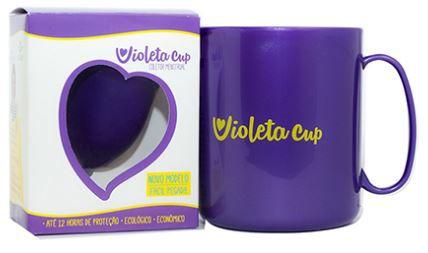 Kit Coletor Menstrual com Caneca Higienizadora Violeta Cup Tipo A Violeta