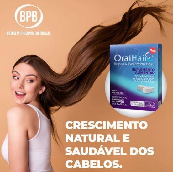 Oral Hair Iron Suplemento Alimentar com 30 comprimidos