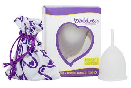 Coletor Menstrual Violeta Cup Tipo B Transparente