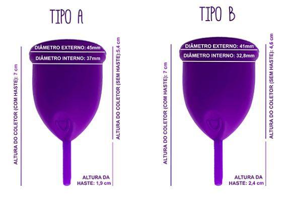 Coletor Menstrual Violeta Cup Tipo B Verde