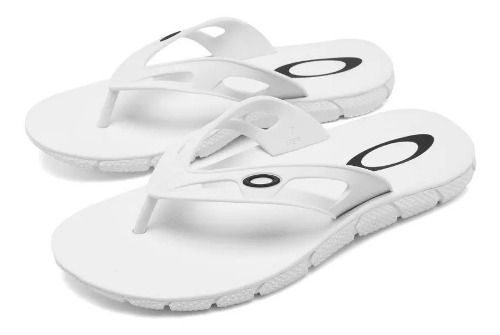 Chinelo Oakley Operative White Branco