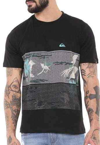 Camiseta Quiksilver Stacks For Days Black 61114844